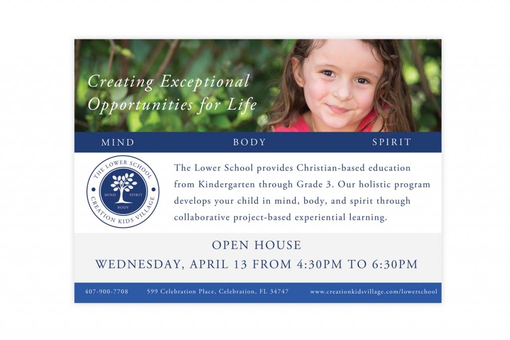 Creation Kids Village Open House Ad/Flyer